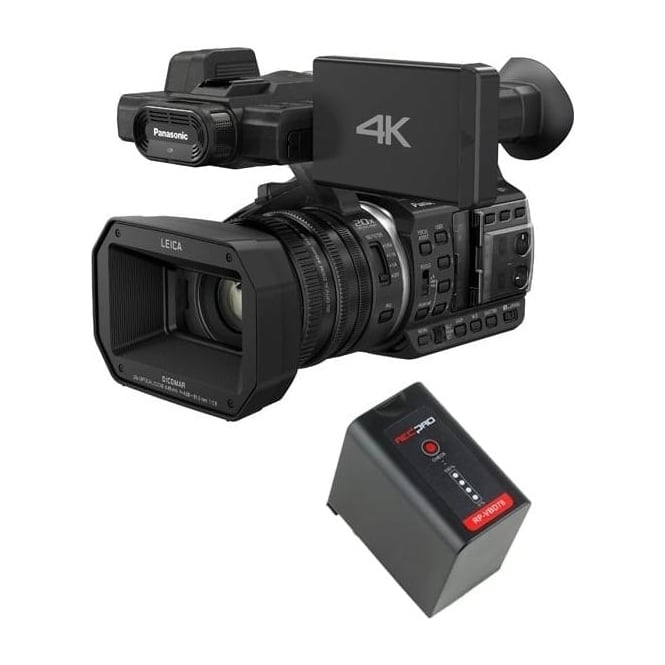 Panasonic HC-X1000 4K Ultra HD Camcorder with a battery package a