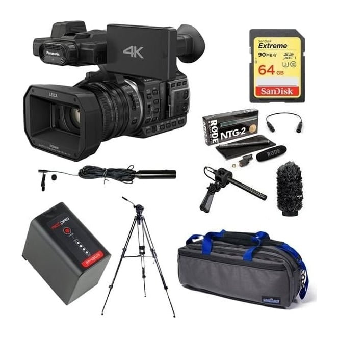 Panasonic HC-X1000 4K Ultra HD Camcorder Package E + FREE microphone