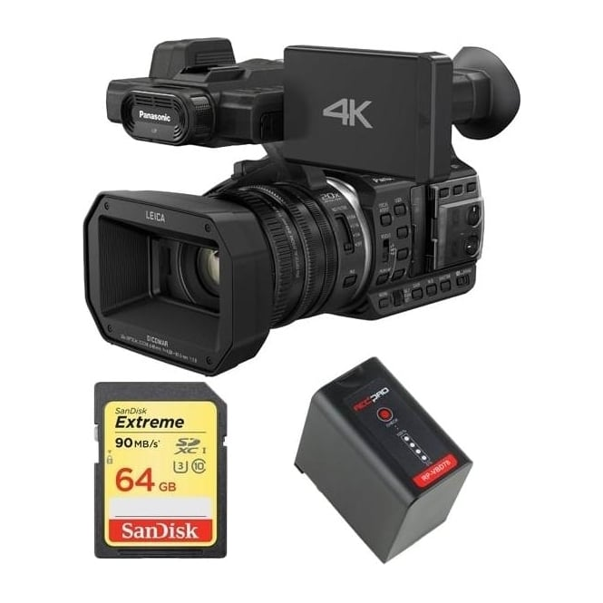 Panasonic HC-X1000 4K Ultra HD Camcorder with battery and memory card package b