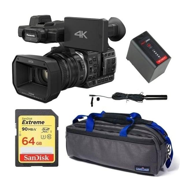 Panasonic HC-X1000 4K Ultra HD Camcorder package c + FREE 3 pin XLR Phantom Lavalier Microphone