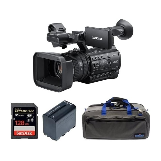 Sony PXW-Z150//C 1.04K Handy Camcorder with battery, card and a bag Package C