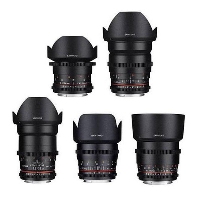 Samyang 7410 SMY V KIT 3 14/24/35/50/85 Canon