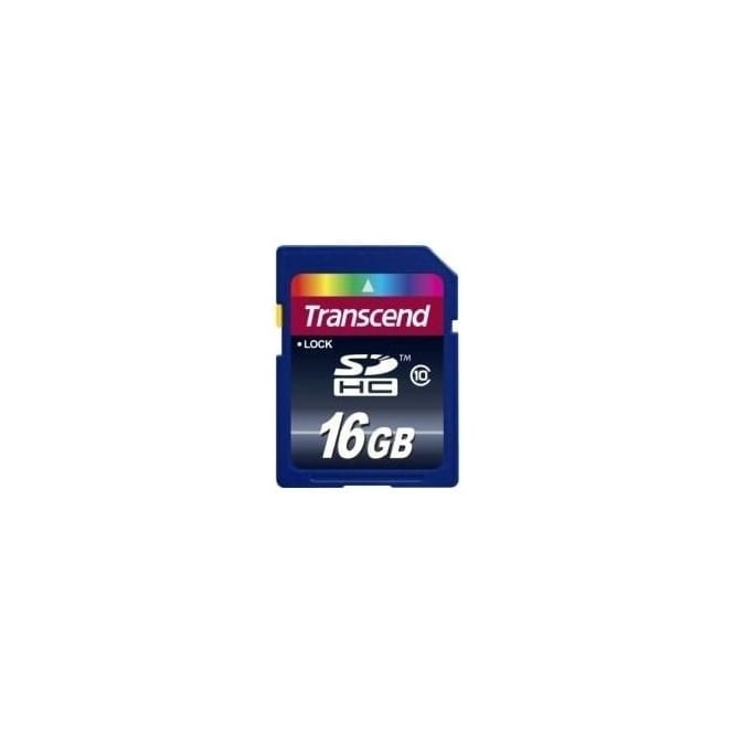 Transcend 16Gb Sdhc Card Class 10 Memory Card, Used
