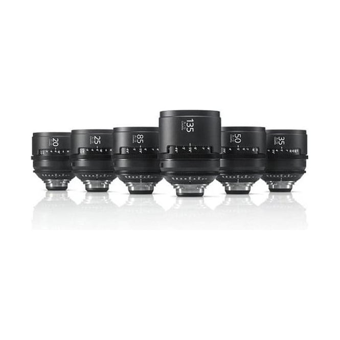Sony SCL-PK6/M CineAlta 4K Six Lens Kit - PL Mount