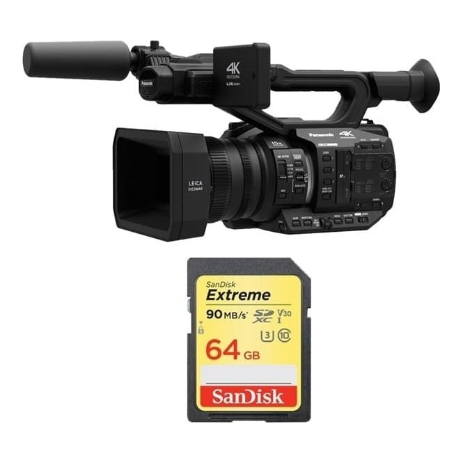 Panasonic AGUX90 4K Camcorder Package A