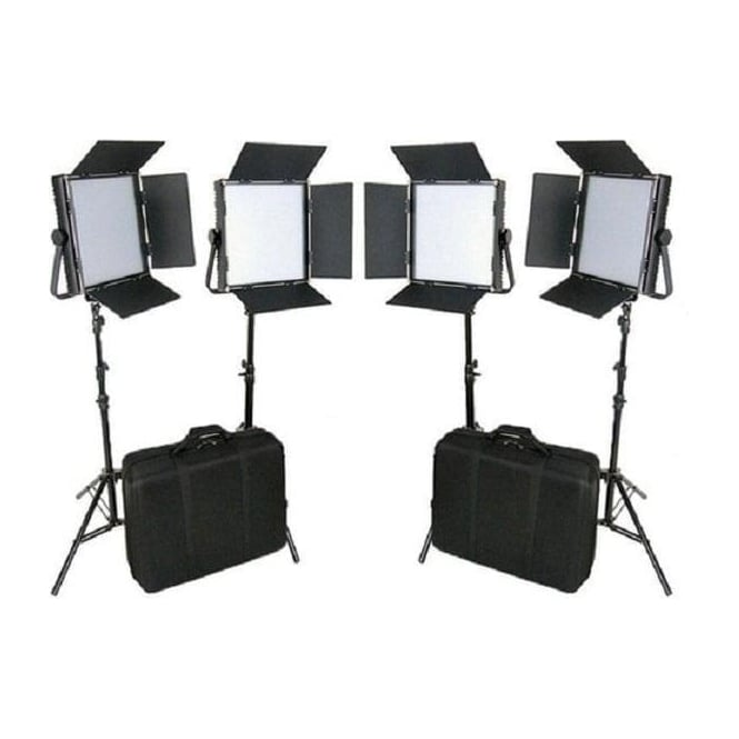 CAME-TV L1024D4KIT High CRI 4 X 1024 LED Video Panel Broadcast 5600K Lights