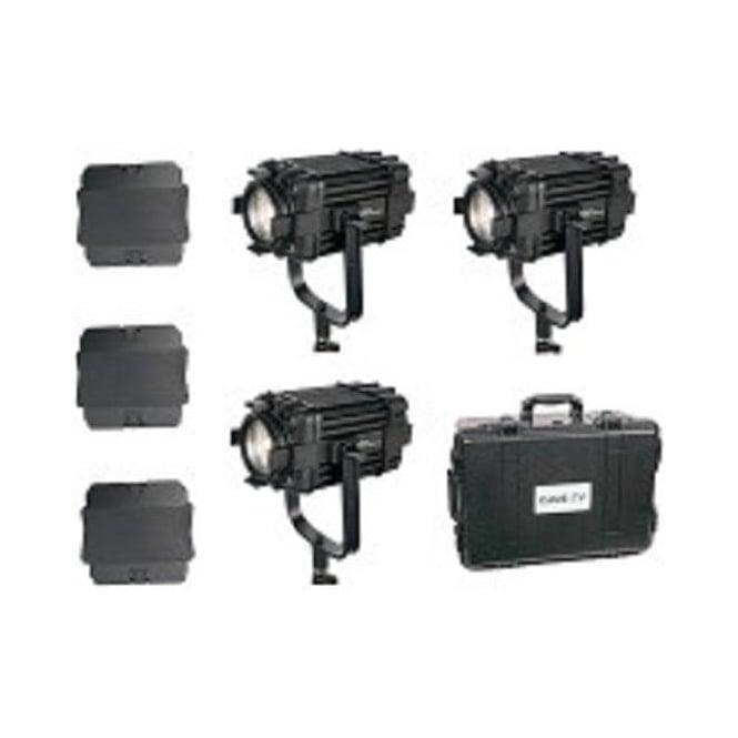 CAME-TV B60-3KIT 3 Pcs Boltzen 60w Fresnel Fanless Focusable Led Daylight