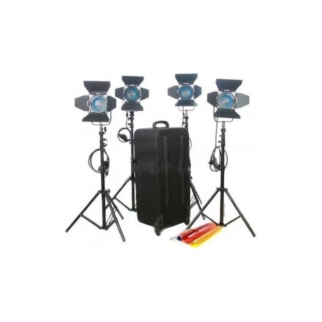 CAME-TV J3400 Dimmer + 4X300W Fresnel Tungsten Video Continuous Spot Lighting