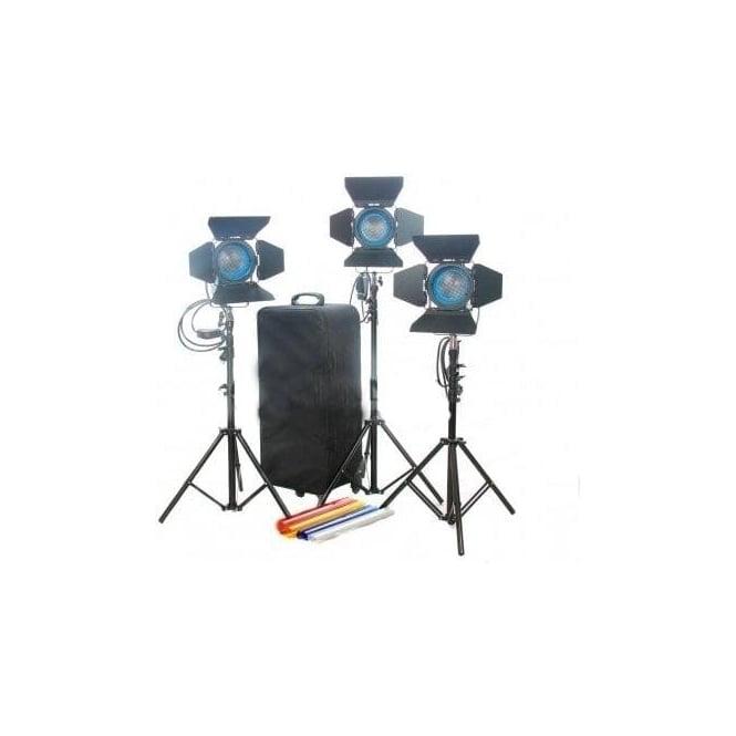 CAME-TV J3300 Fresnel Tungsten Spot Light Video Continuous Light - 3Pcs