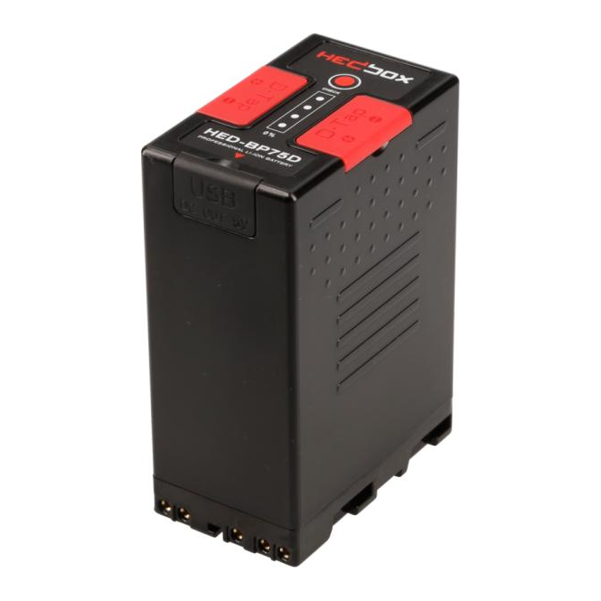 HedBox HED-BP75D Lithium Battery Pack with 4-LED Power Monitor