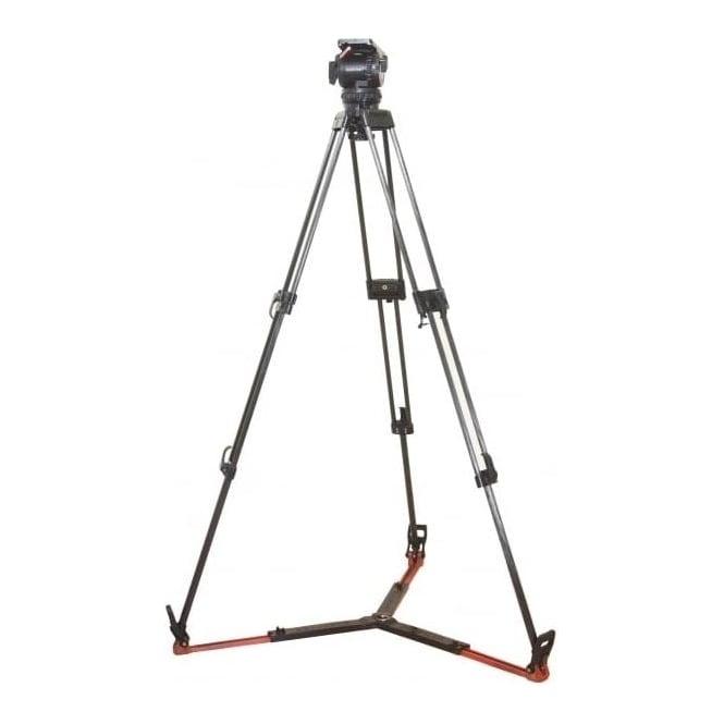 Sachtler 18p Tripod System, eng 2 stage C/F legs, SP100 G/spreader, panbar Used