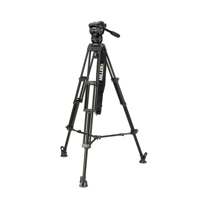 Miller 3721 CX6 (1092) Toggle 2-Stage Alloy Tripod (420) System with Mid Spreader