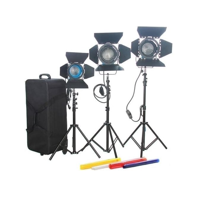 Came J1261 Fresnel Tungsten Spot Video Light Studio - 2+1Pcs