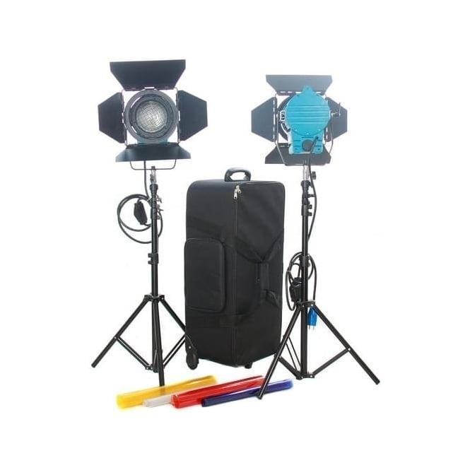 CAME-TV J1200 Dimmer + Fresnel Tungsten Spot Lighting with Hard Bag