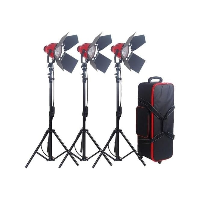 CAME-TV R8300 Pro Red Head Redhead Continuous Light Lighting + Stands