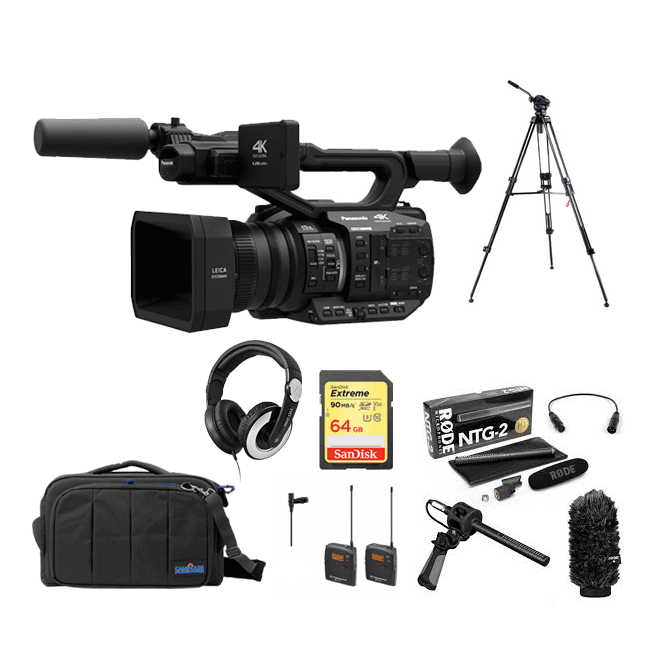 Panasonic AGUX90 4K Camcorder package E