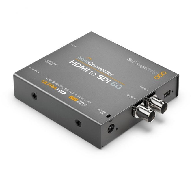 Blackmagic BMD-CONVMBHS24K6G Convert SD, HD and Ultra HD HDMI with HDMI/analogue or AES audio to SDI