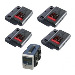 Swit SP-192/3004A  4 x batteries plus 1 x  4 channel charger