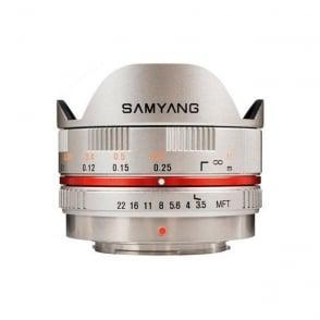 7601 7.5mmFISHEYE F3.5 M4/3 Lens - Silver