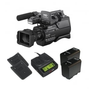 HXR-MC2500E HD / SD NXCAM AVCHD Camcorder with the charger and 2 batteries package b