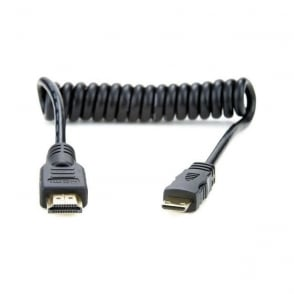 "Atomos AO-ATOMCAB008 Full to Mini HDMI Coiled Cable (11.8 to 17.7"")"