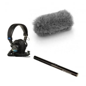 Sennheiser MKE 600  Microphone with fluffy and headphones package b