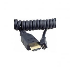 Atomos AO-ATOMCAB015 Coiled Micro HDMI to full HDMI Cable 30cm