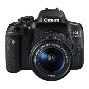 Canon EOS-750D Digital SLR Camera with 18-55mm IS STM Lens