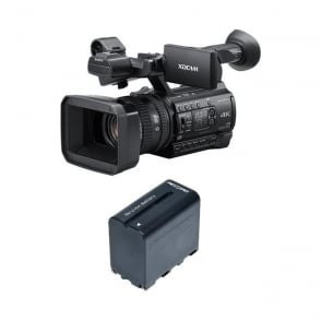 Sony PXW-Z150//C 1.04K Handy Camcorder with RedPro battery Package A