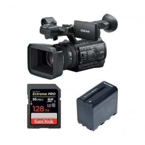 Sony PXW-Z150//C 1.04K Handy Camcorder with RedPro battery and memory card Package B