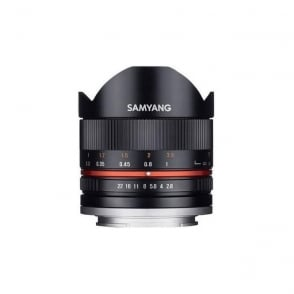 Samyang 7611 8mm f2.8 UMC II Fisheye Lens for Sony E-mount - Black