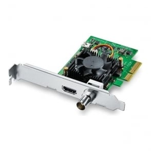 Blackmagic BMD-BDLKMINIREC4K Low profile PCIe capture card featuring 6G-SDI and HDMI 2.0a for all formats up to 2160p30, including HDR
