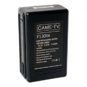 CAME-TV F130W Compact V-Mount Li-Ion Battery 130Wh