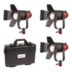 B30-3KIT 3 Pcs Boltzen 30w Fresnel Fanless Focusable Led Daylight