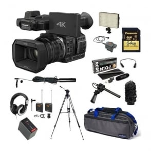 Panasonic HC-X1000 4K Ultra HD Camcorder Package F + FREE 3 Pin microphone