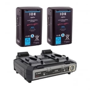 IDX EH-10/2000S 2 x E-HL10DS Batteries, 1 x VL-2000S Simultaneous Charger