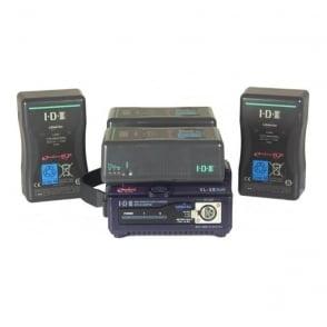 VL-2s PLUS Dual charger & 4x IDX E-HL9s V-lock Batteries