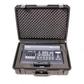 Datavideo DATA-GO650SR 4-input HD switcher with H.264 streaming encoder/recorder and cables, inside a hand-carry case