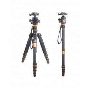 CAME-TV Q66C Carbon Fiber Tripod Monopod Macro Photography