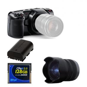 Blackmagic BMD-CINECAMPOCHDMFT4K Pocket Cinema Camera  4K package D