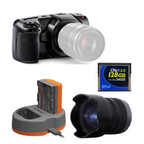 Blackmagic BMD-CINECAMPOCHDMFT4K Pocket Cinema Camera 4K Package E