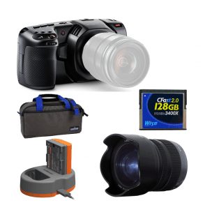 Blackmagic BMD-CINECAMPOCHDMFT4K Pocket Cinema Camera 4K package F