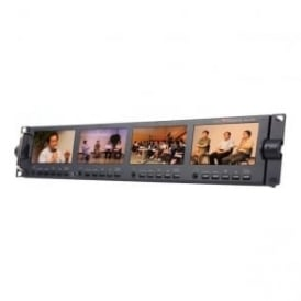 "Datavideo DATA-TLM434H 4 x 4.3"" Rack-Mounted Monitors"