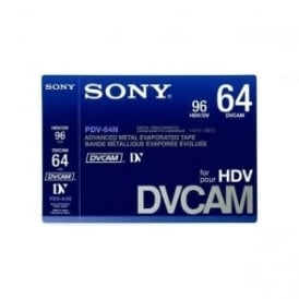 Sony Pdv-64N large cassette blank tape without memory