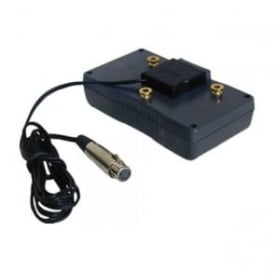 S-7100A 4 pin xlr to gold mount battery adapter