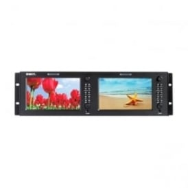 "M-1071H 2 x 7"" lcd monitor 1024x600 3gsdi/hdmi/cvbs"