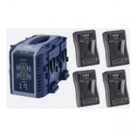 Idx EP-9/4S 4 x ENDURA-HL9 Batteries, 1 x VL-4S Charger