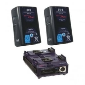 Idx ED-150/2S 2 x ENDURA DUO-150 Batteries, 1 x VL-2SPlus Charger