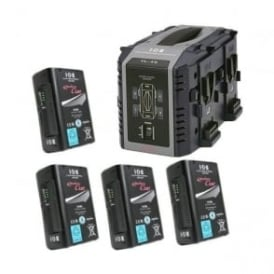 Idx EC-95/4S 4 x ENDURA CUE-95 Batteries, 1 x VL-4S Charger