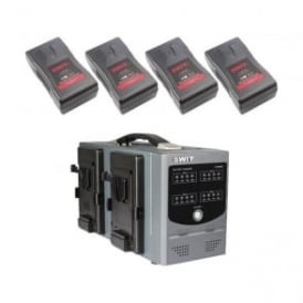 Swit SC-3004S 4-channel simultaneous charger SP-152/302A plus 4 x SP-8152S batteries package a